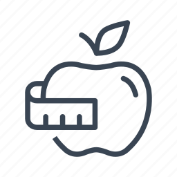 apple, diet, fitness, fruit, healthy icon