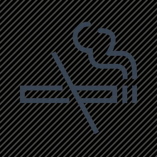 healthcare, no, smoking, stop icon