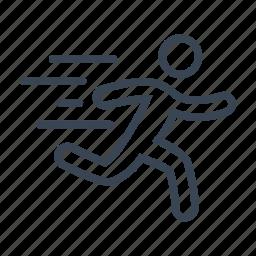 fitness, jogging, running, sport icon