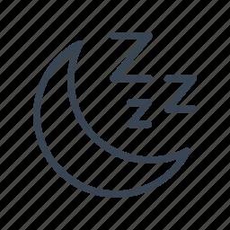 rest, sleep, sleeping icon