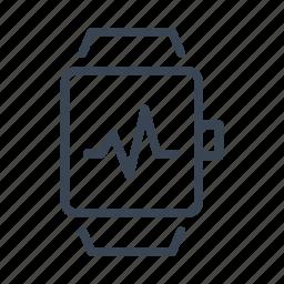app, apps, heartbeat, pulse, smart, sport, watch icon