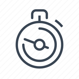 fitness, gym, sport, stopwatch icon