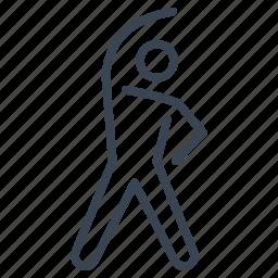 aerobic, exercise, fitness, sport, training icon