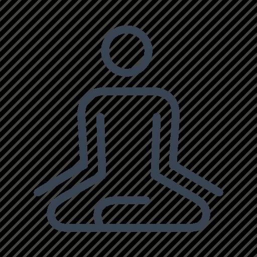 fitness, gym, meditation, yoga, zen icon