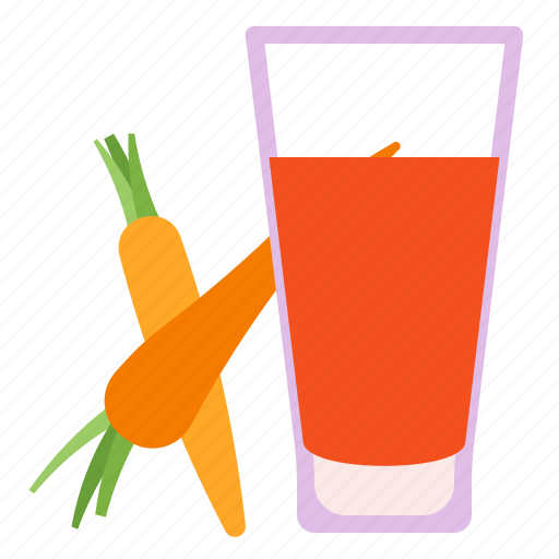 carrot, fruit, juice, vegetable icon