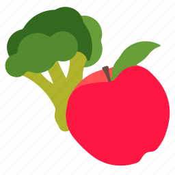 food, fruit, healthy, vegetable icon