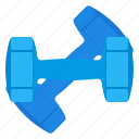 dumbbells, gym, sport, training icon