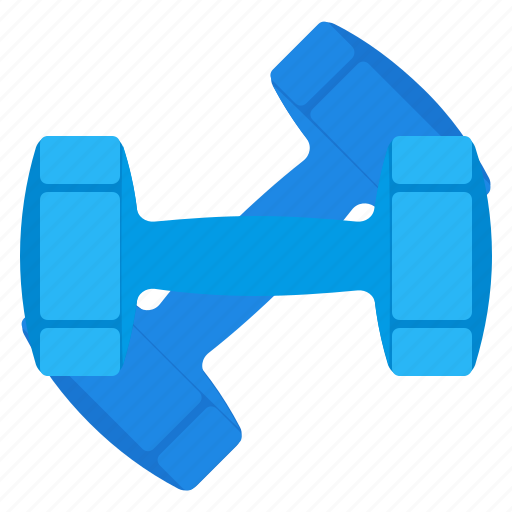 dumbbells, gym, sport, training icon