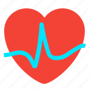 fitness, heart, heartbeat, pulse icon