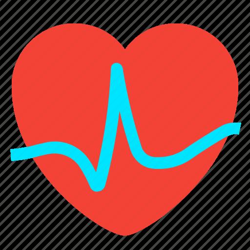fitness, heart, heartbeat, pulse icon