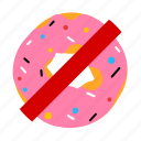doughnut, food, health, sign icon