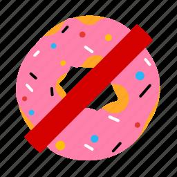 doughnut, food, health, sign icon