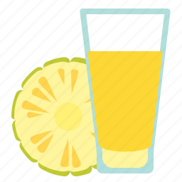 drink, fruit, juice, pineapple icon