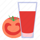 drink, juice, tomato icon