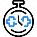 equipment, fitness, gym, time, timer icon