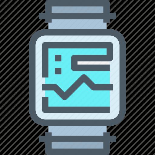 cardio, gym, health, smart, technology, watch icon