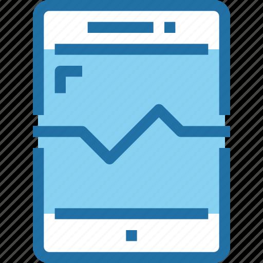 heart, mobile, rate, report, smartphone icon