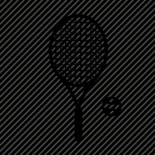 ball, equipment, racquet, sport, tennis icon