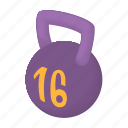 cartoon, heavy, kg, kilogram, measurement, strength, weight icon