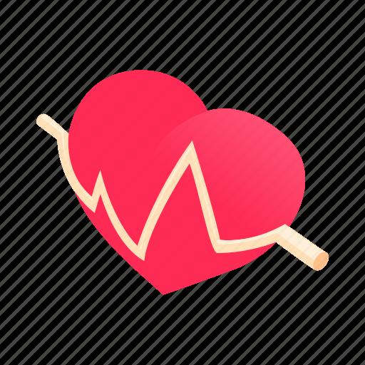 beat, cardiogram, cartoon, health, heartbeat, medical, pulse icon