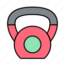 fitness, gym, health, kettlebells icon