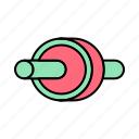 fitness, gym, health, roll, wheel icon