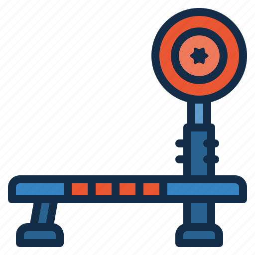 barbell, bench, equipment, fitness, gym, sport, workout icon