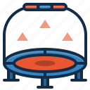gym, trampoline, equipment, fitness, sport, workout icon