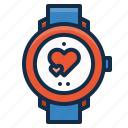 equipment, fitness, heart, rate, sport, watch, workout icon