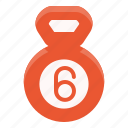 bell, equipment, fitness, gym, kettle, sport, workout icon