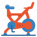bike, equipment, fitness, gym, spinning, sport, workout icon