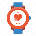 fitness, gym, heart, rate, sport, timer, watch icon