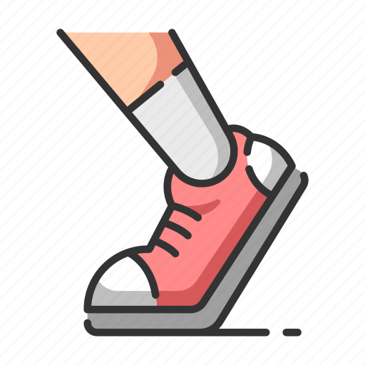 exercise, healthcare, running, speed, sport, trainers icon