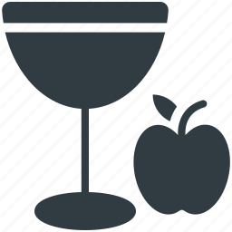 apple, apple juice, drink, fruit juice, glass icon