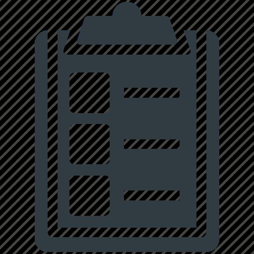 checklist, clipboard, diet chart, diet plan, list icon