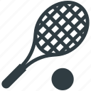 racket, sports, squash racket, tennis ball, tennis racket