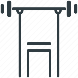 gym, gym bench, liveup bench, sit up bench, workout bench icon