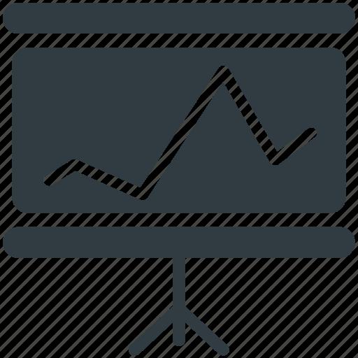 business presentation, easel, graph presentation, presentation board, whiteboard icon
