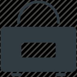 duffle bag, gym bag, gym sack, gym tote, sports bag icon