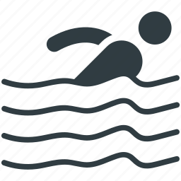 sports, swimmer, swimming, swimming competition, water sports icon