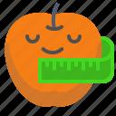 apple, fruit, measure, measurement, vegan, veggie icon