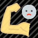 exercise, grow, hand, improve, weak, weights icon