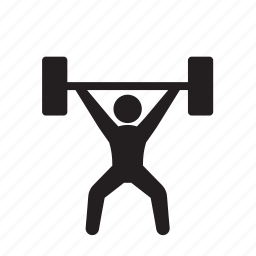 barbell, body building, fitness, health, heavy, weight lifter, weightlifting icon