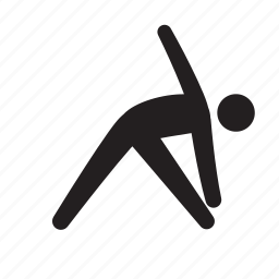 athlete, exercise, fitness, health, man, stick figure, stretching icon