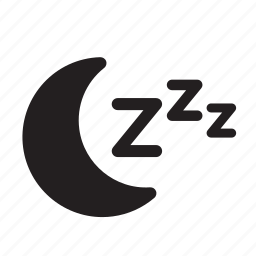 moon, night, rest, sleeping icon