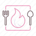 calories, food, fork, spoon icon