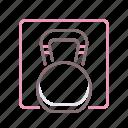 dumbbell, fitness, gym, kettlebell icon