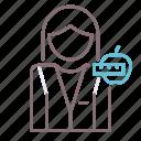 avatar, female, nutritionist, woman icon