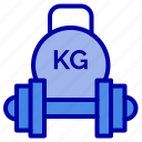 barbell, dumbbell, equipment, kettlebell, weight icon