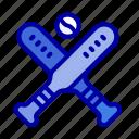 ball, baseball, bat, bats icon